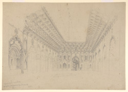 Interior of the Hussainabad Imambara Lucknow (U.P.). 4 March 1870